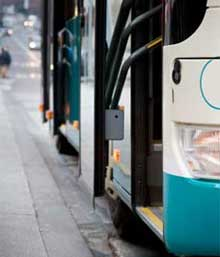 Automated passenger counting (APC) on buses